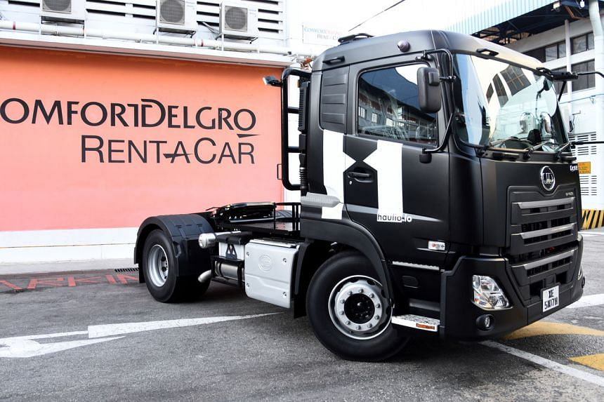 ComfortDelGro Rent-A-Car is starting off with five trucks, all of which have been leased out to container trucking technology firm Haulio.