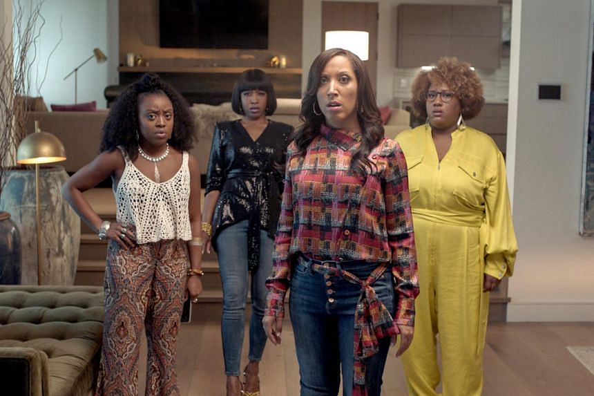 A Black Lady Sketch Show features (from left) Quinta Brunson, Gabrielle Dennis, creator Robin Thede and Ashley Nicole Black.