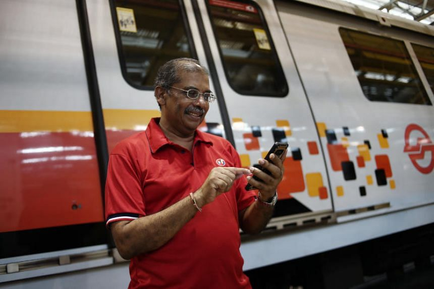 Mr Krishnasamy Suriyakhanu, a senior station manager at SMRT, said he learnt how to use mobile apps to submit medical claims and check his payslip during the pilot class of the programme.