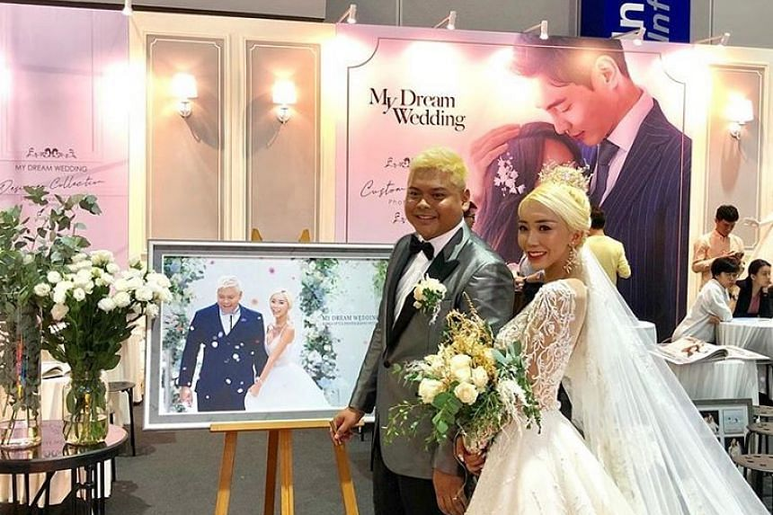 The couple have known each other for 10 years, with more than 500 fans reportedly turning up to help Leng celebrate her big day in Kuala Lumpur.