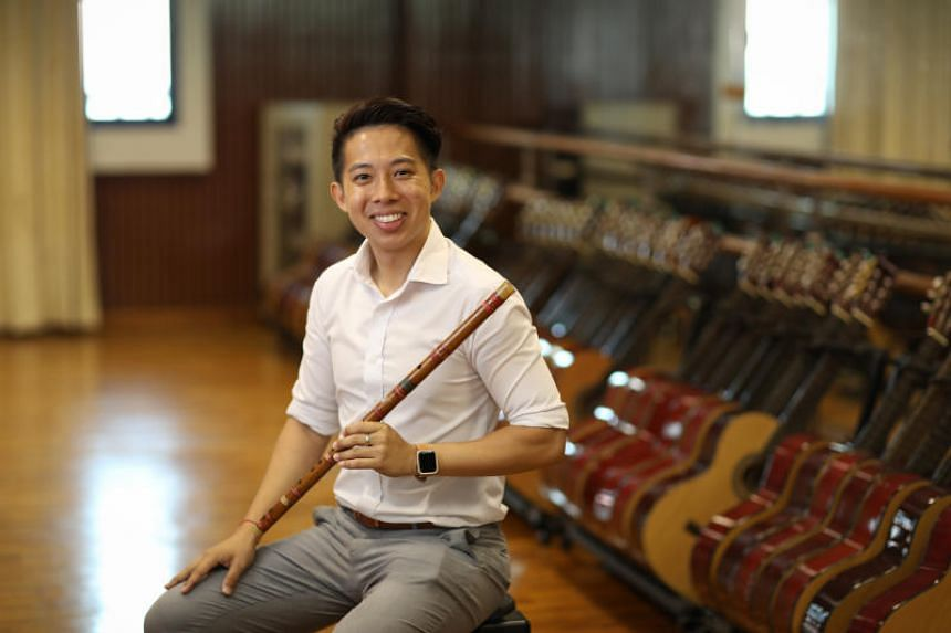 Suffering from high-frequency hearing loss in his right ear and tinnitus in his left, Mr Ong Ting Kai hears only the bass line and drum beats in a piece of music.