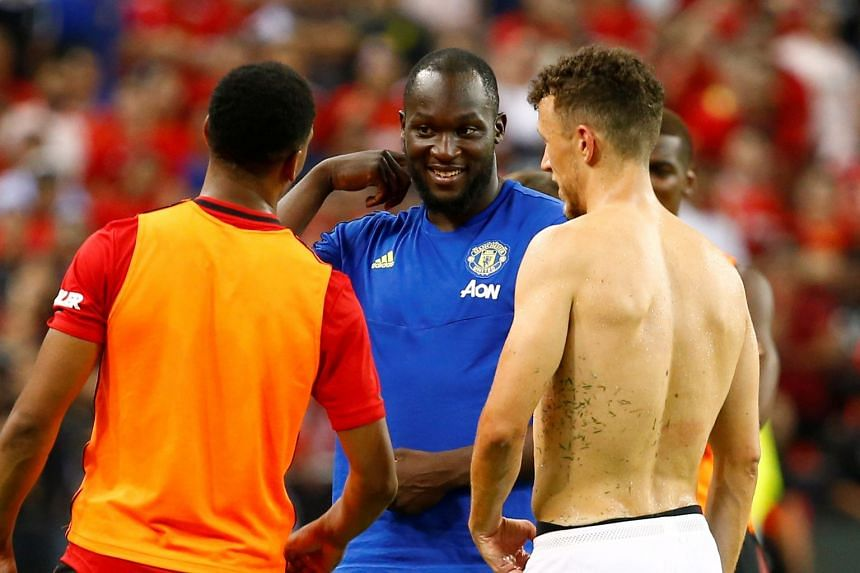 Lukaku after Manchester United played Inter Milan in the International Champions Cup in Singapore.
