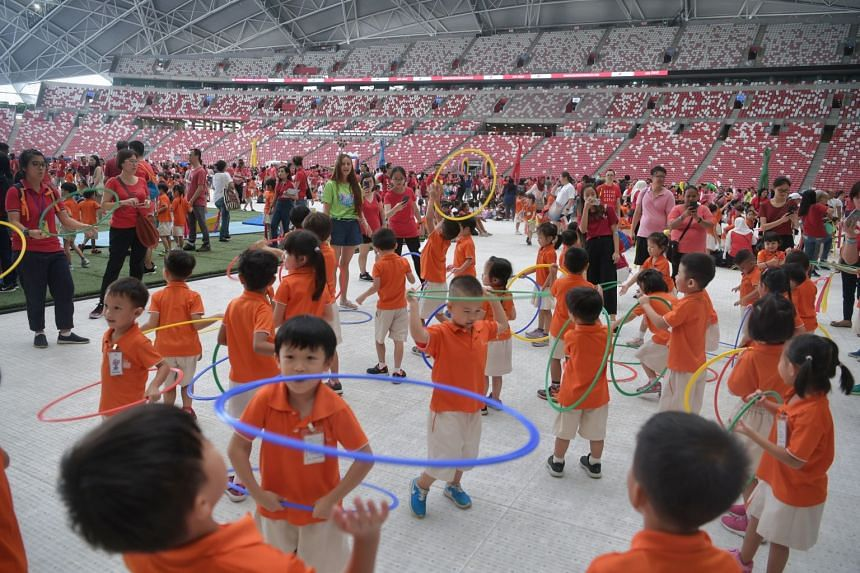 Some 4,000 pre-schoolers gathered for the launch.
