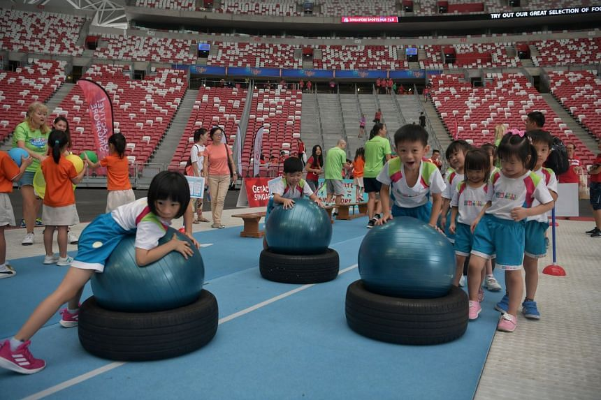 The launch was held at the Singapore Sports Hub