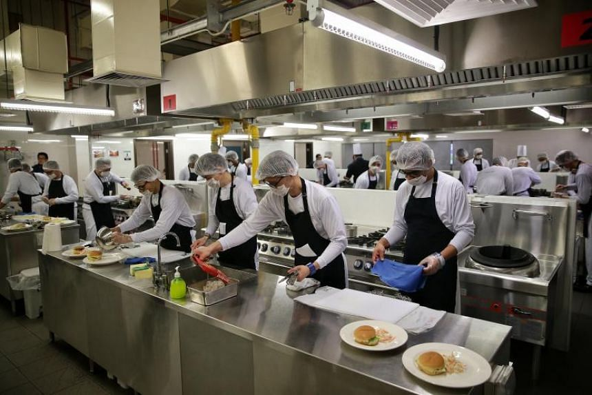 The Hope Cafe is a kitchen and restaurant in Changi Prison Complex where inmates undergo hands-on training in culinary skills and food and beverage operations to enable them to take up jobs in the hospitality industry in future.