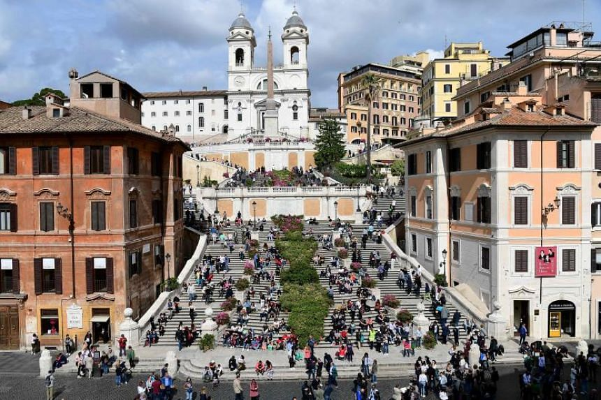 The marble steps, one of the architectural jewels of the Italian capital, have long been a place for weary sightseers to stop and watch the world go by.