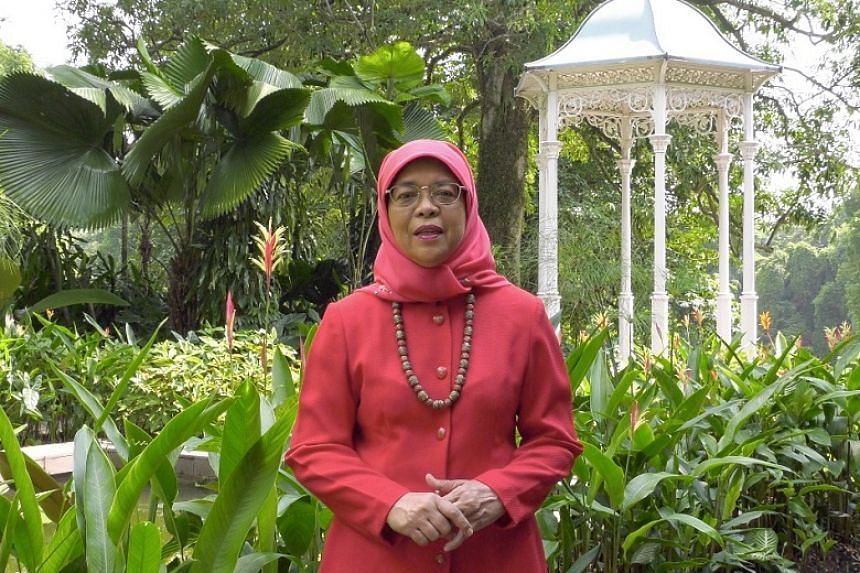 President Halimah Yacob in a National Day greeting video posted on Facebook.
