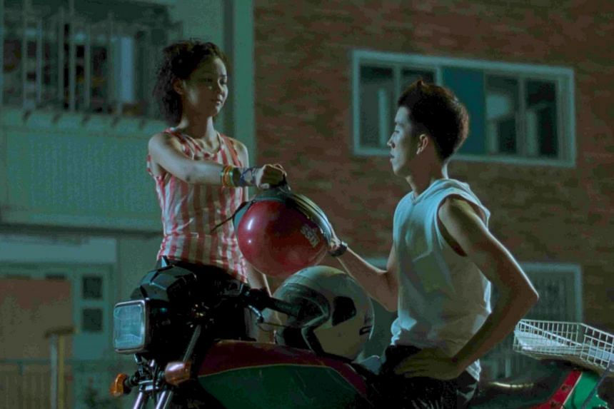 A still from Eating Air featuring Benjamin Heng and Alvina Toh.
