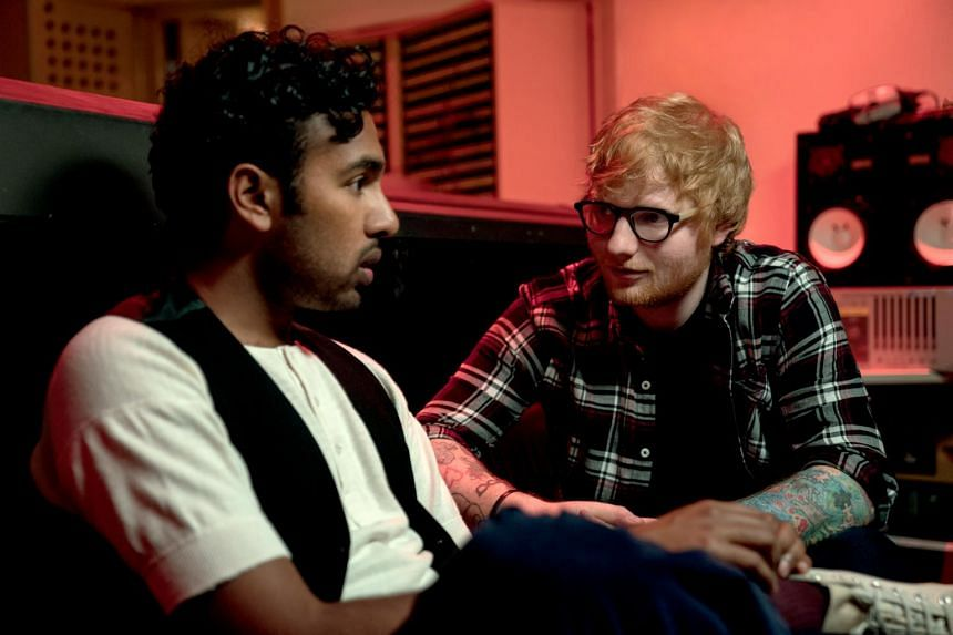 Himesh Patel (left) and Ed Sheeran in Yesterday.