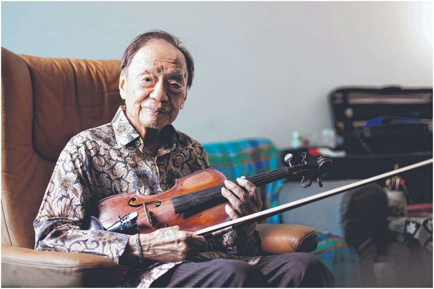 Violinist Julai Tan was the oldest performer at the 2018 National Day Parade and played with the BBC Orchestra in London in the 1960s.
