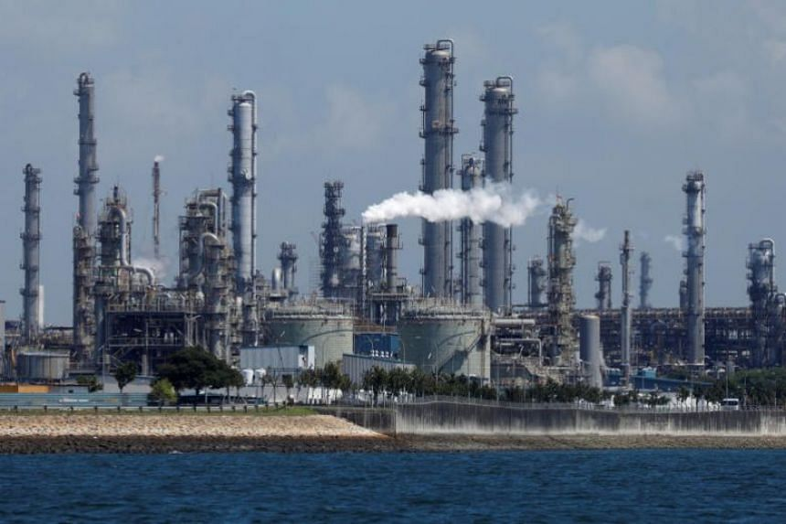 A general view of Shell's Pulau Bukom petrochemical complex on July 15, 2019. Shell has also been exploring solar installations for its other sites in Singapore.
