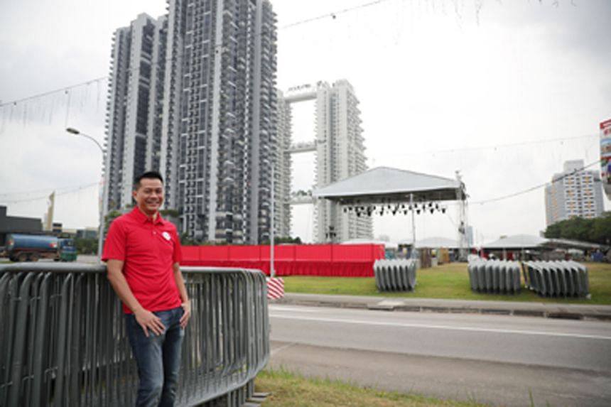 Military Expert 5 Tommy Chaw, who is in charge of the Bishan fireworks display on Saturday, said fireworks in the heartland can go only as high as 120m, well under the 180m for the parade. ST PHOTO: GIN TAY
