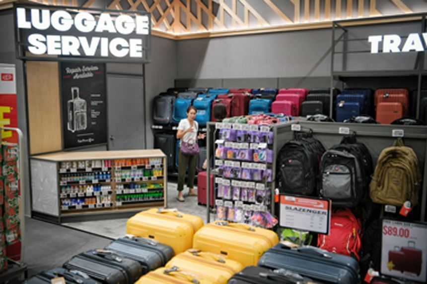 There is also a section selling and repairing luggage.