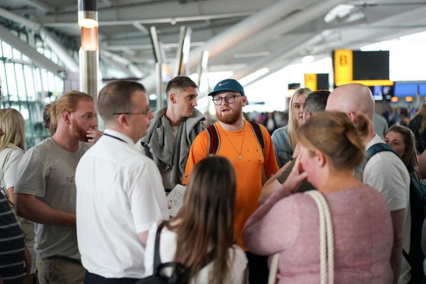 The problems started when people tried to check in for the first flights of the day and the airline was unable to say when they would be resolved.