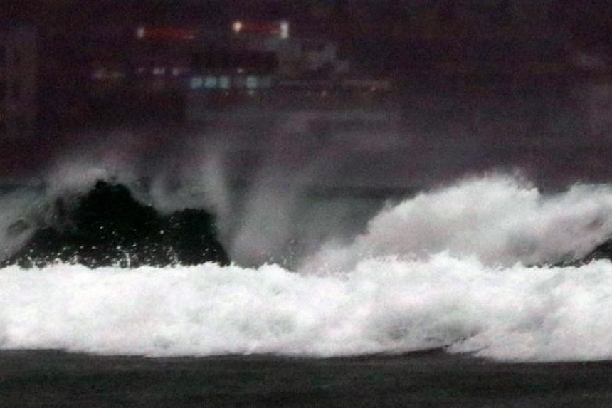 A strong typhoon lashed south-western Kyushu on Aug 6, 2019, and another two might hit Japan by this weekend,