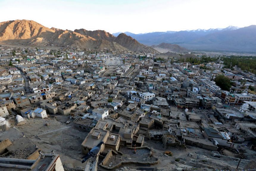 In this file photo taken on Sept 26, 2016, the sun sets in Leh, the largest town in the region of Ladakh, nestled high in the Indian Himalayas, India.