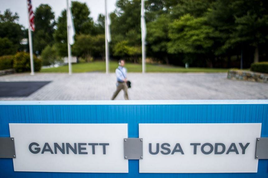 The incident occurred just two days after GateHouse Media announced it was buying USA Today's owner, Gannett, in a US$1.4 billion (S$1.9 billion) merger of two of the largest US newspaper companies.