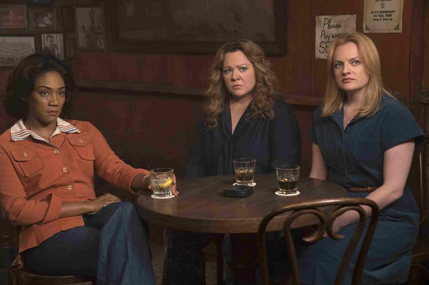 The Kitchen starring (from left) Tiffany Haddish, Elizabeth Moss and Melissa McCarthy.