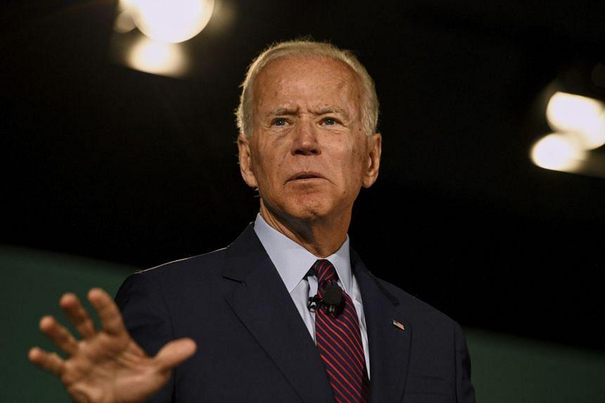 "Presidential hopeful Joe Biden (above) accused President Donald Trump of having ""no moral leadership; no interest in unifying the nation""."