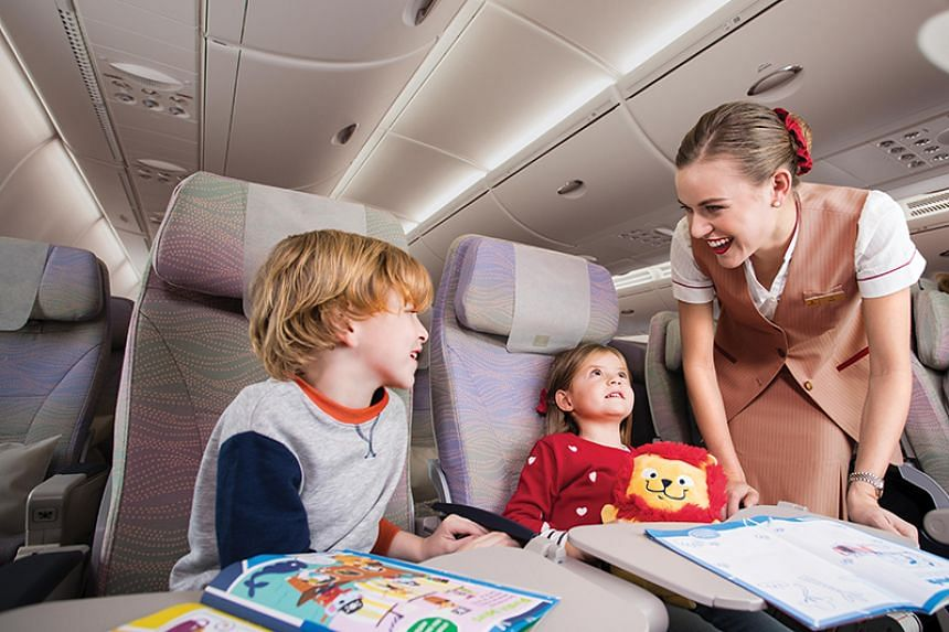 Young travellers are in for a treat on Emirates flights. PHOTO: EMIRATES