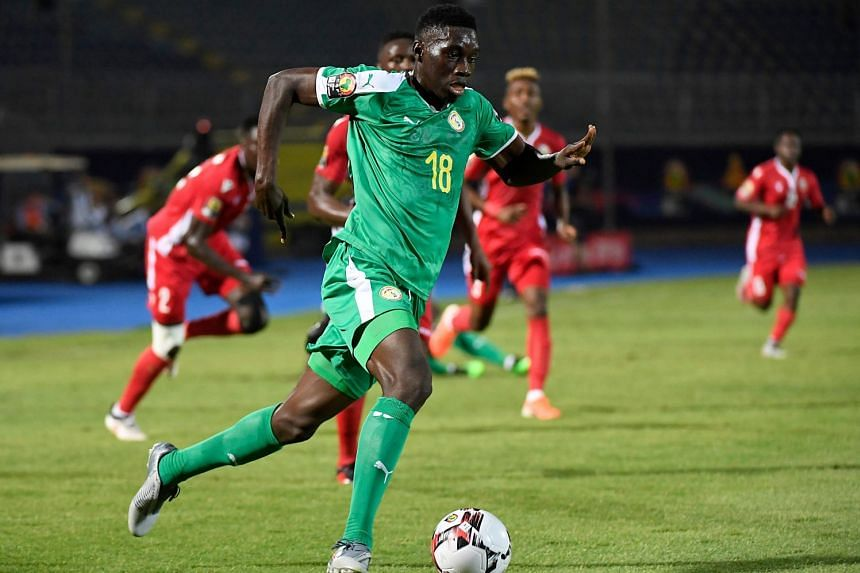 Sarr in action for Senegal during the Africa Cip of Nations.
