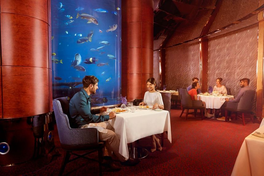For a dinner to remember, dine 'underwater' at Al Mahara. PHOTO: TOURISM DUBAI