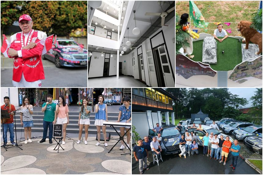 (Clockwise from top left) Private-hire driver Henry Ho, the former St Andrew's Mission Hospital, carpenter Tan Koon Tat, participants of an Automobile Association of Singapore trip who will be driving more than 22,000km from London to Singapore, and