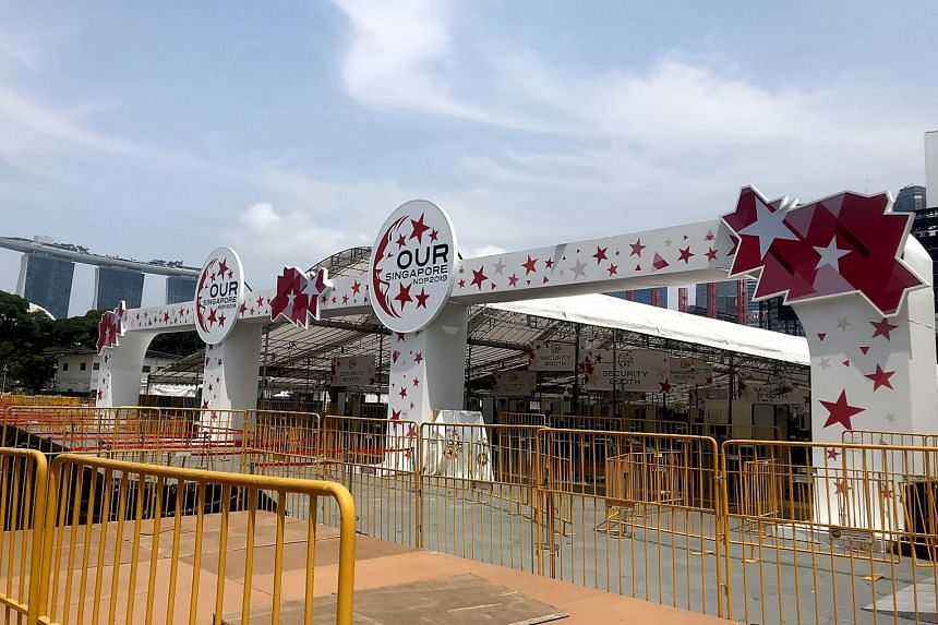 Spectators will see this NDP-themed entrance gantry at the Padang. PHOTO: NDP 2019 EXECUTIVE COMMITTEE