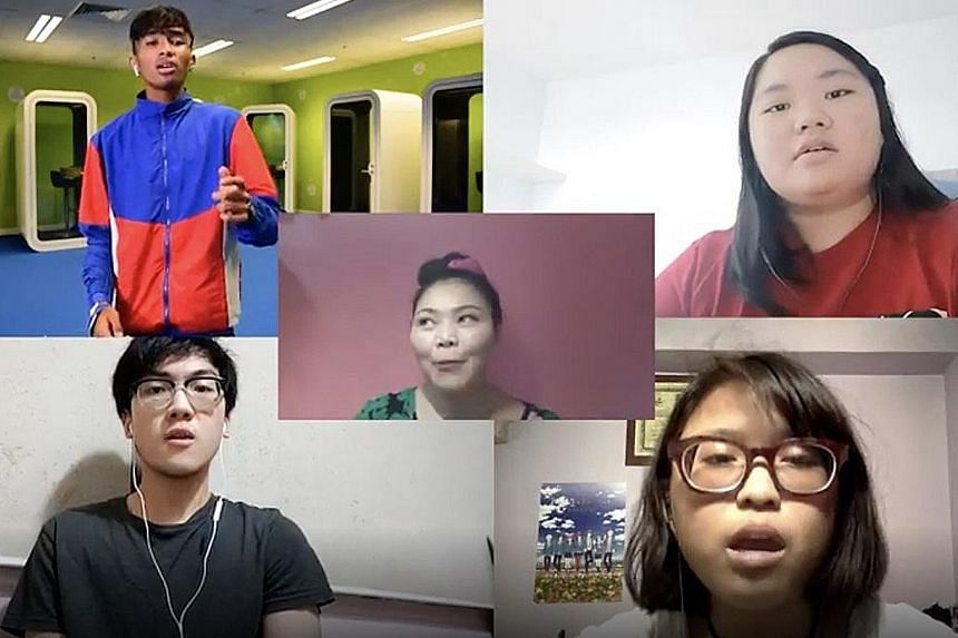 The National Day video produced by ITE College West students involved 101 staff, students and alumni singing River Song. PHOTO: INSTAGRAM/ FABRIC OF LIFE