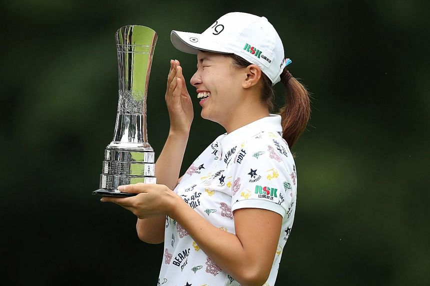 "Hinako Shibuno's victory in the Women's British Open on Sunday and disarming smile had endeared her to many fans and prompted a BBC commentator to describe the Japan LPGA Tour rookie as ""a teenage Seve Ballesteros"". PHOTO: REUTERS"