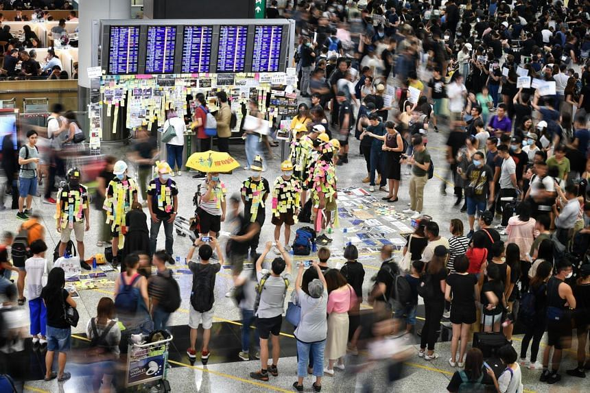 Hong Kong's Airport Authority said only departing passengers with travel documents will be allowed to enter the terminal.
