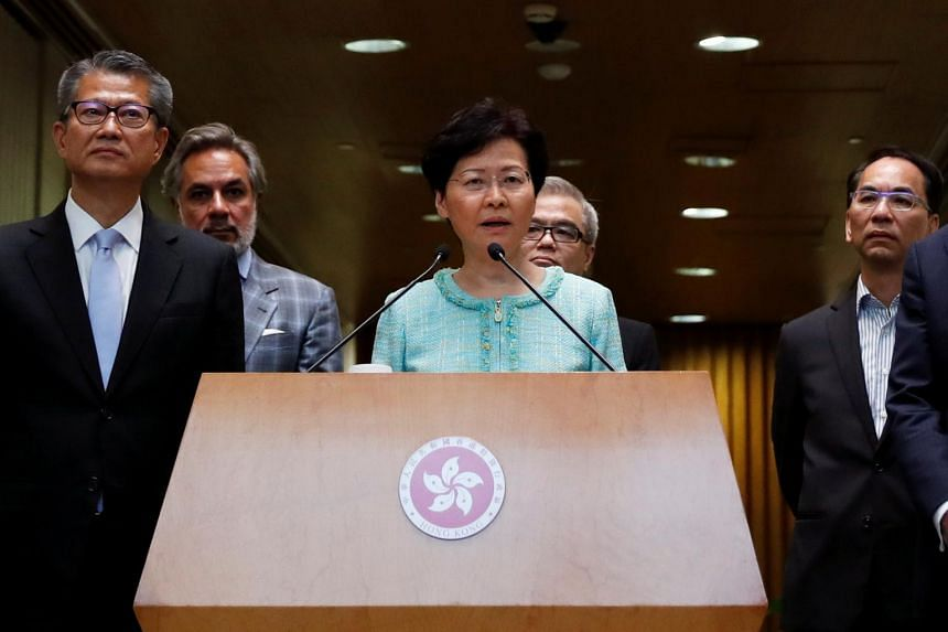 Chief Executive Carrie Lam said that it was a consensus view that Hong Kong society would need time to heal, but for that to happen, the city needed a respite from more protests.