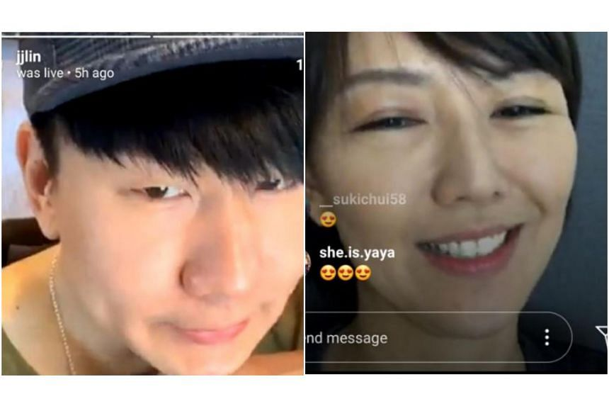 Home-grown Mandopop singer JJ Lin invited Stefanie Sun to be on the livestream with him, after seeing that she commented on the video.