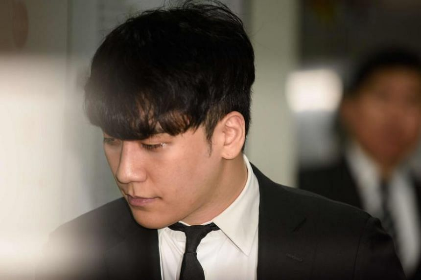 In this photo taken on May 14, 2019, former BigBang boyband member Seungri arrives at the High Court in Seoul. Claims have surfaced that the singer had gambled in Las Vegas.