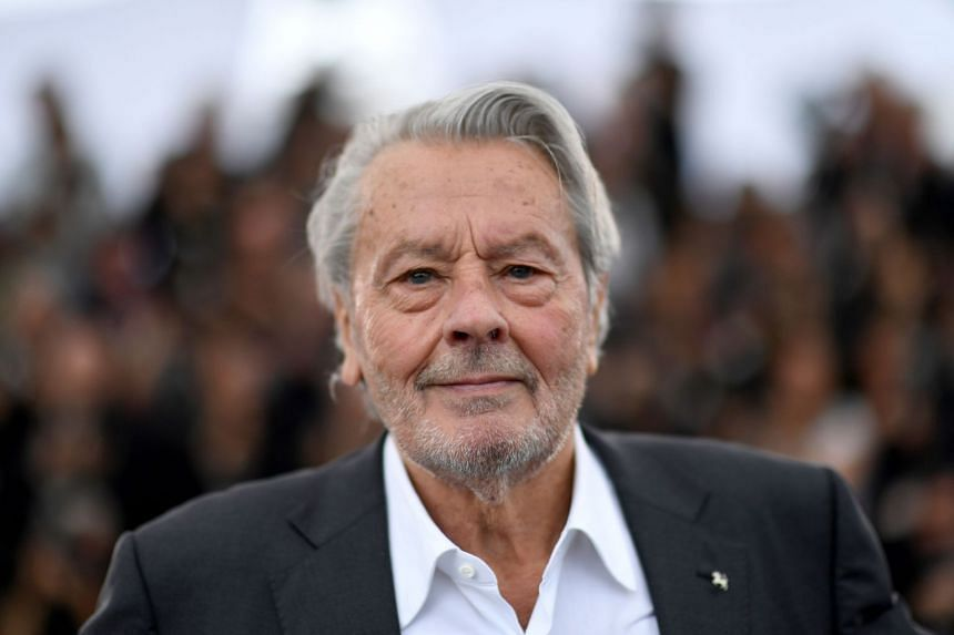 Delon at a Cannes festival photocall before receiving an Honorary Palme d'Or in May 2019.