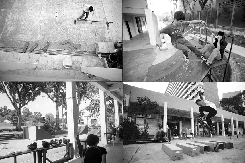 By the time I started skating there in the mid-2000s, the open space in front of Go Sports had famously become a full-on mini skatepark, equipped with ramps, rails and boxes, all built by shop owner Eddie Goh.