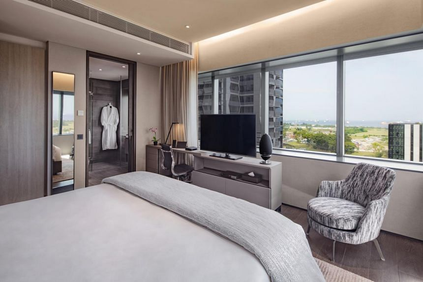 Oakwood Premier OUE is a serviced apartment that opened in 2017 and received its hotel licence in January this year.