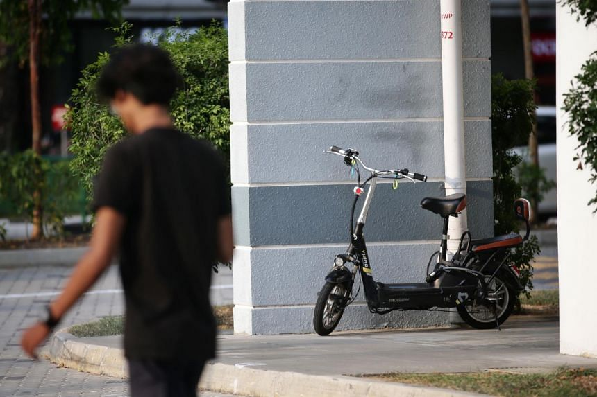 Users will have to dismount and push their personal mobility devices at void decks and common corridors of HDB blocks.