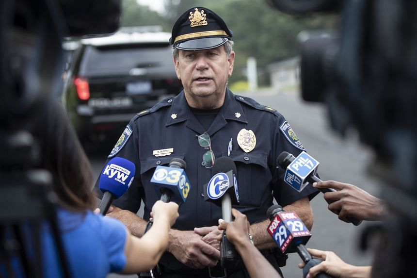 Upper Moreland police chief Michael Murphy speaks to the media about the crash.