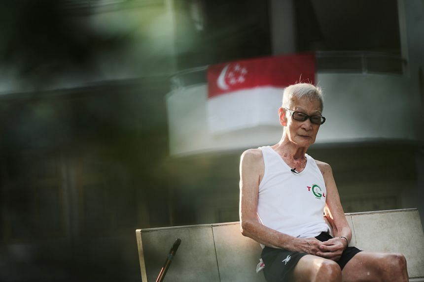 Mr Tan Kok Sing, 94, a great-grandfather, founded the Tiong Bahru Garden Joggers club in 1977 because he saw jogging as a way to discourage youngsters in the area from sniffing glue.