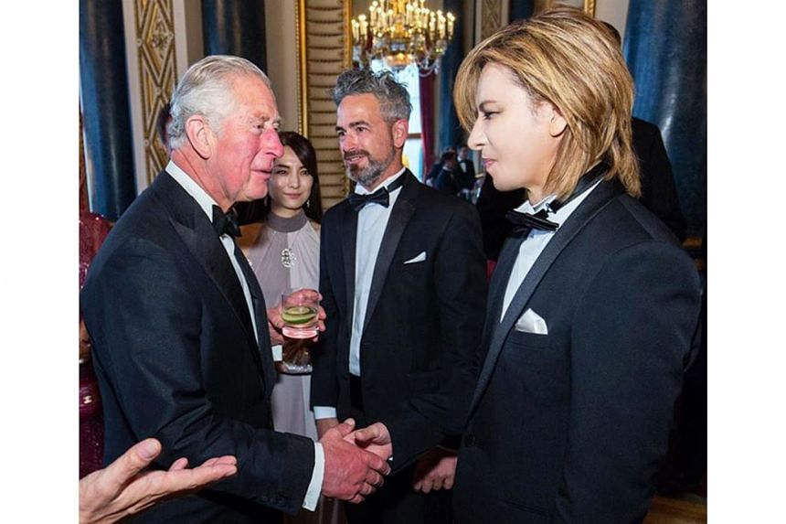 Drummer Yoshiki, considered royalty in Japan's music circles, recently met Britain's Prince Charles at a music-related charity function in Buckingham Palace in London.