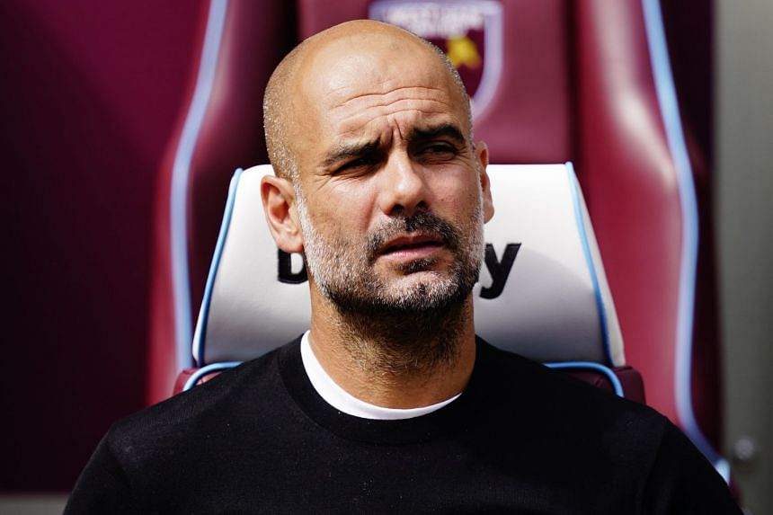 City manager Pep Guardiola before the match.