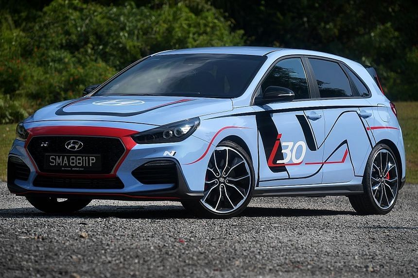 The Hyundai i30N Performance Pack is resistant to wheelspin even on aggressive take-offs, but there is still a trace of torque steer and just a hint of understeer.