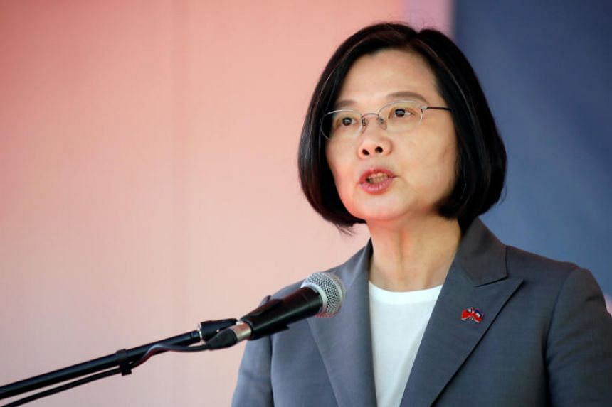 """Taiwanese President Tsai Ing-wen warned citizens to stay alert for Chinese-financed media """"infiltration"""", in a media conference in Kaohsiung on Aug 10, 2019."""