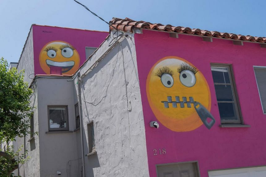 Neighbours in Manhattan Beach believe the emojis are designed to poke fun at them.