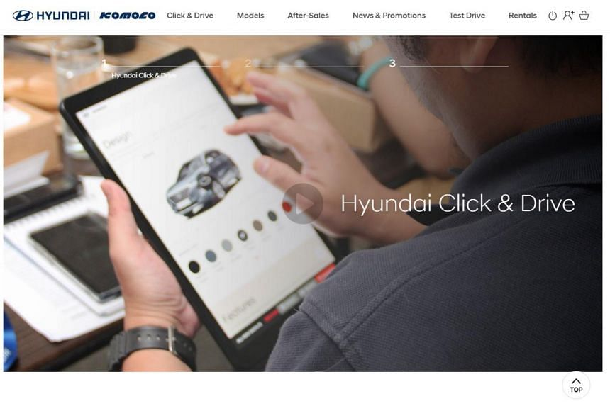 Hyundai agent Komoco has sold more than 30 cars on its 10-month-old online sales portal, Click & Drive.