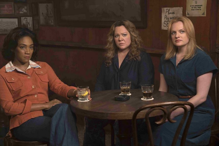 (From far left): Actresses Tiffany Haddish, Melissa McCarthy and Elisabeth Moss in the movie The Kitchen.