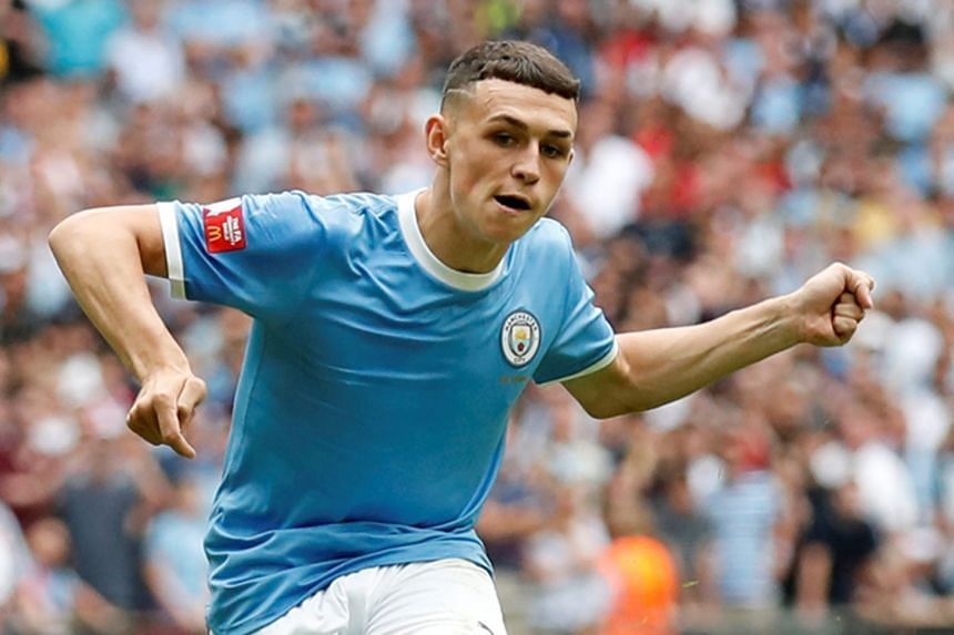 Clockwise, from far left: Chelsea's Tammy Abraham, Arsenal's Reiss Nelson, Tottenham's Troy Parrott and Manchester City's Phil Foden are the promising youngsters to watch in the English Premier League this season. PHOTOS: AGENCE FRANCE-PRESSE, REUTER