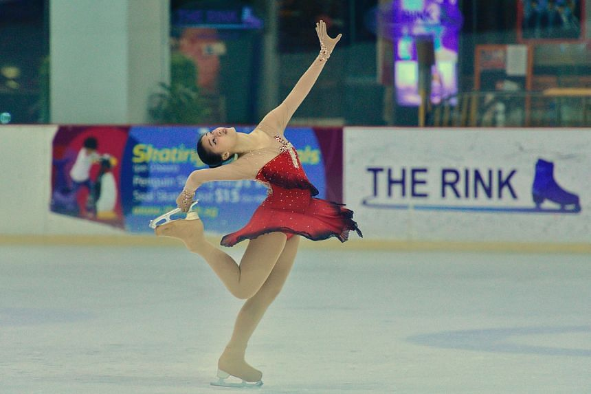 Christ Church Secondary School student Loke Xin Yi performing during the inter-school ice skating competition at the JCube rink last month. Sports like ice skating are usually considered as external activities, which requires students to take up anot