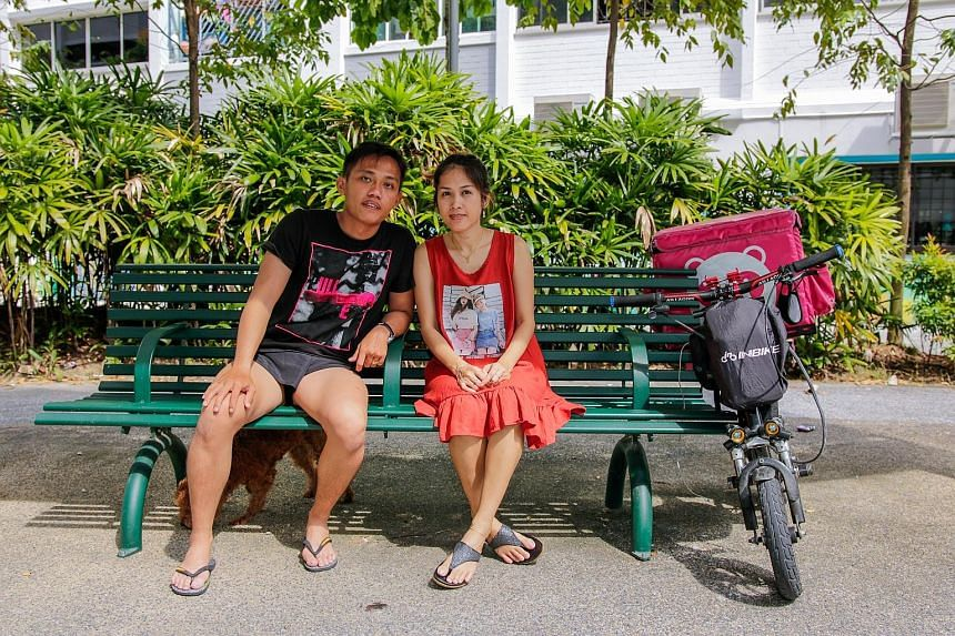 Public servant Sunny Seah sometimes rides the e-scooter instead of driving his car on short trips, while his wife Sok Cheat uses it to deliver food part time while taking care of their two children.